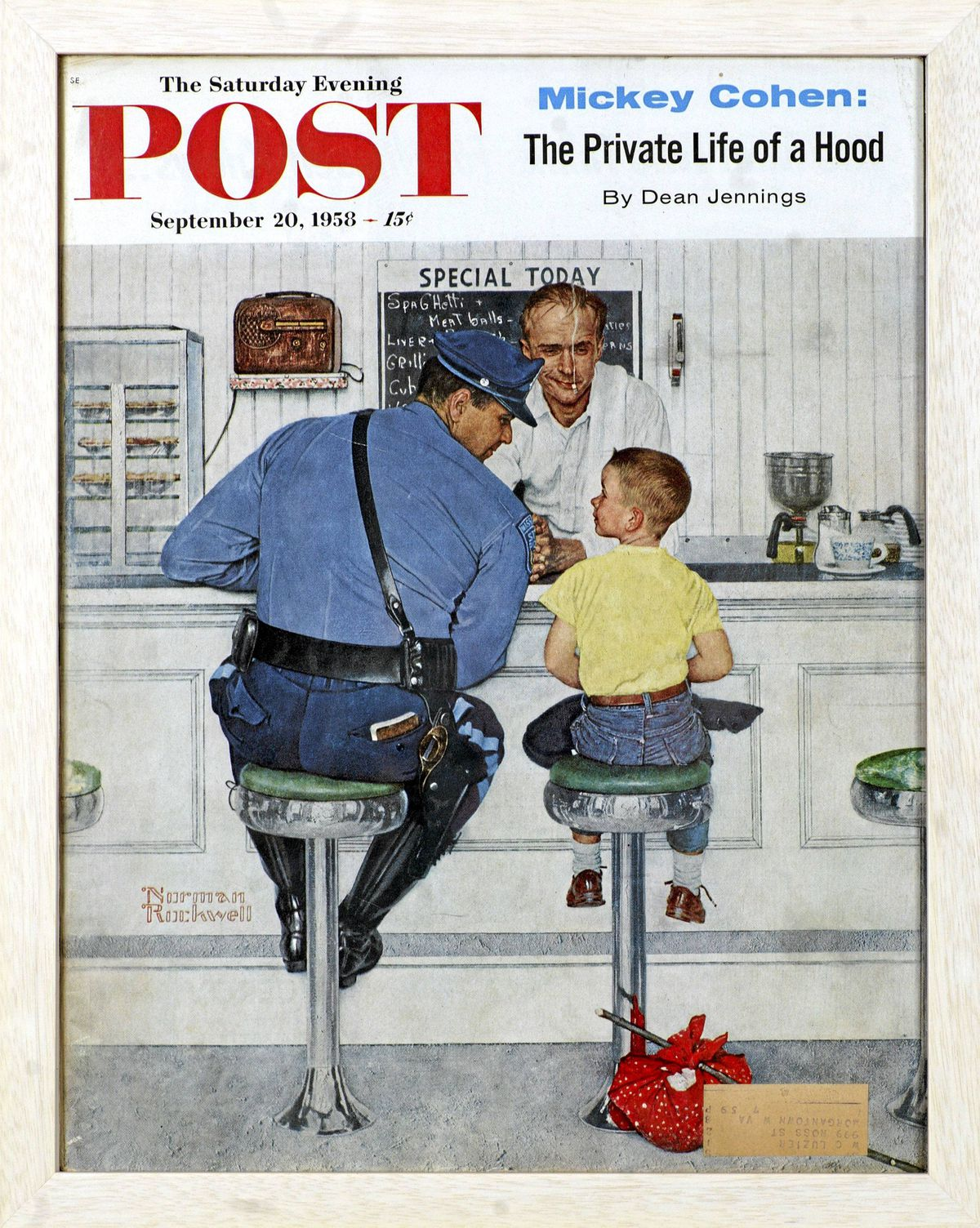 The Runaway Norman Rockwell, 1958. Cover illustration for The Saturday Evening Post, September 20, 1958.