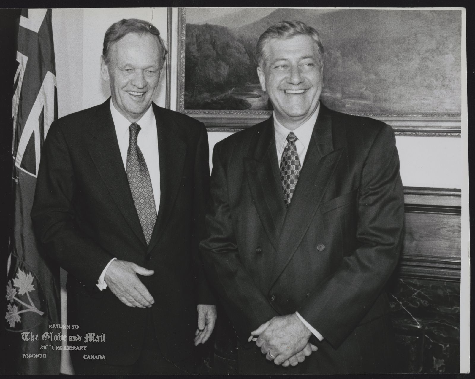 JEAN CHRETIEN CANADA. PRIME MINISTER PRIME MINISTER JEAN CHRETIEN WITH NEWLY ELECTED ONTARIO PREMIER MIKE HARRIS.
