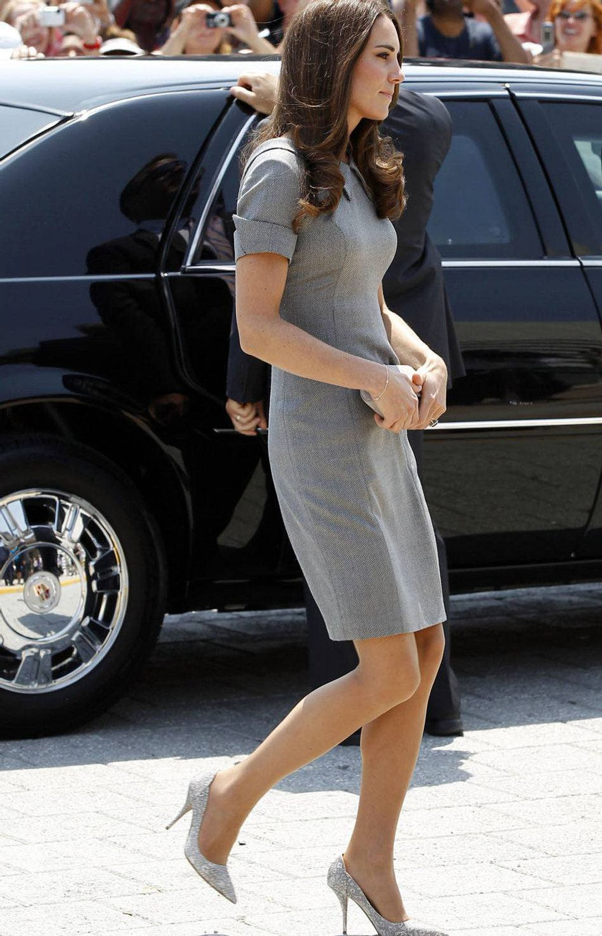 Catherine, Duchess of Cambridge, arrives at reception at the Canadian War Museum in Ottawa July 2, 2011.