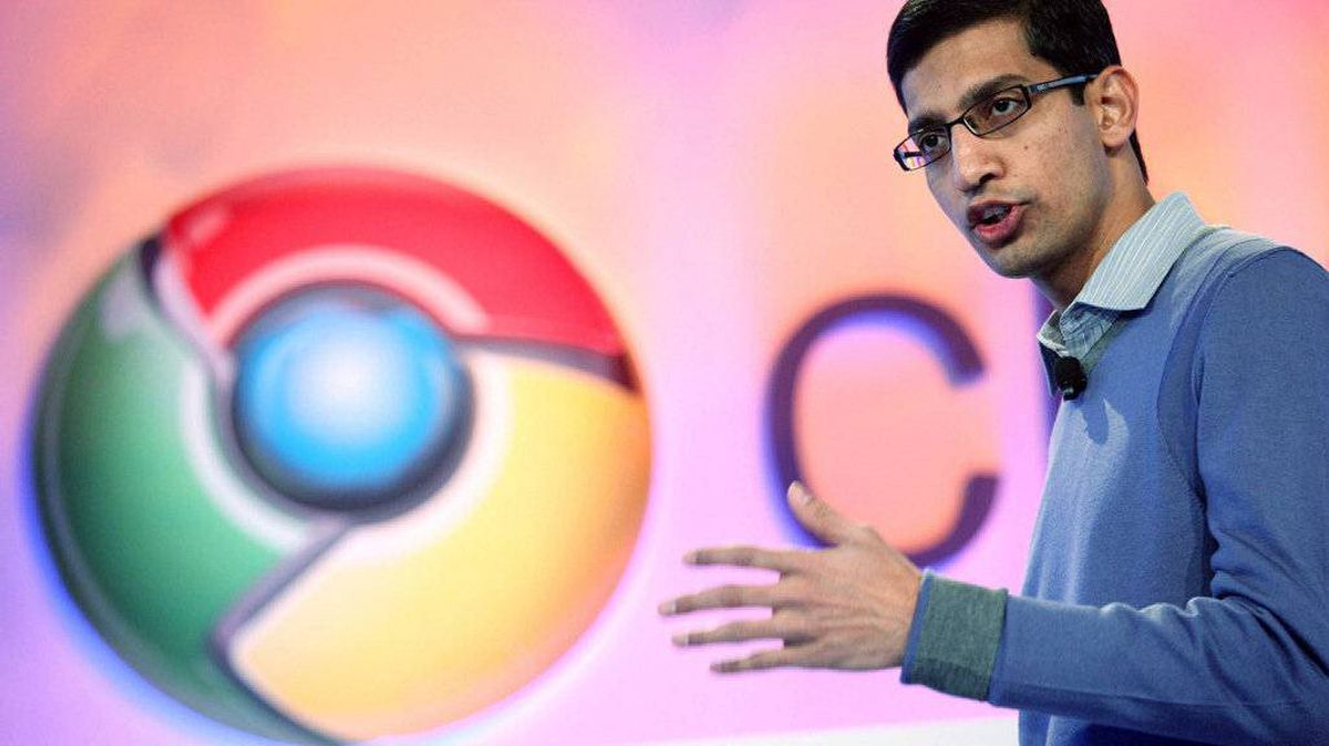Sundar Pichai, vice president of product management for Google, speaks during the company's Chrome event in San Francisco December 7, 2010.