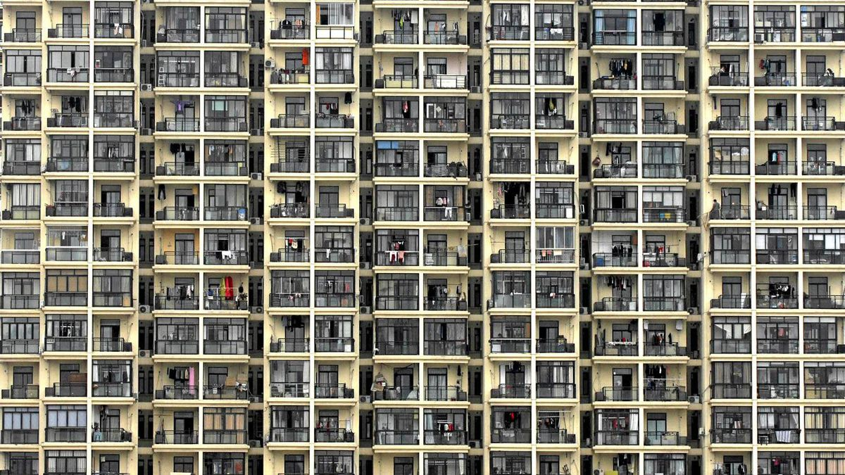 A view of a residential building in Shanghai in this file picture taken, March 18, 2009.