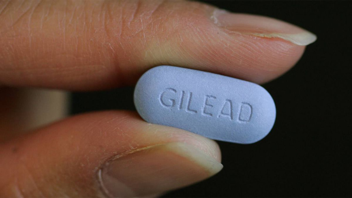 Close up Gilead Sciences Inc.'s Truvada pill in their lab in Foster City, Calif. Truvada is one of the most popular HIV treatments in the world.