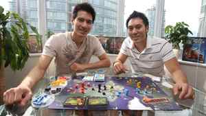 Panda Game Manufacturing's Richard Lee, left, and Michael Lee