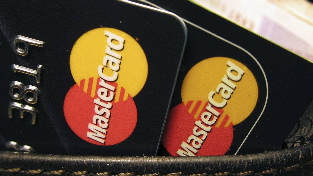MasterCard credit cards are seen in this file photo.