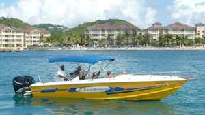 One of the boats in the fleet of Exodus Boat Charters in St. Lucia