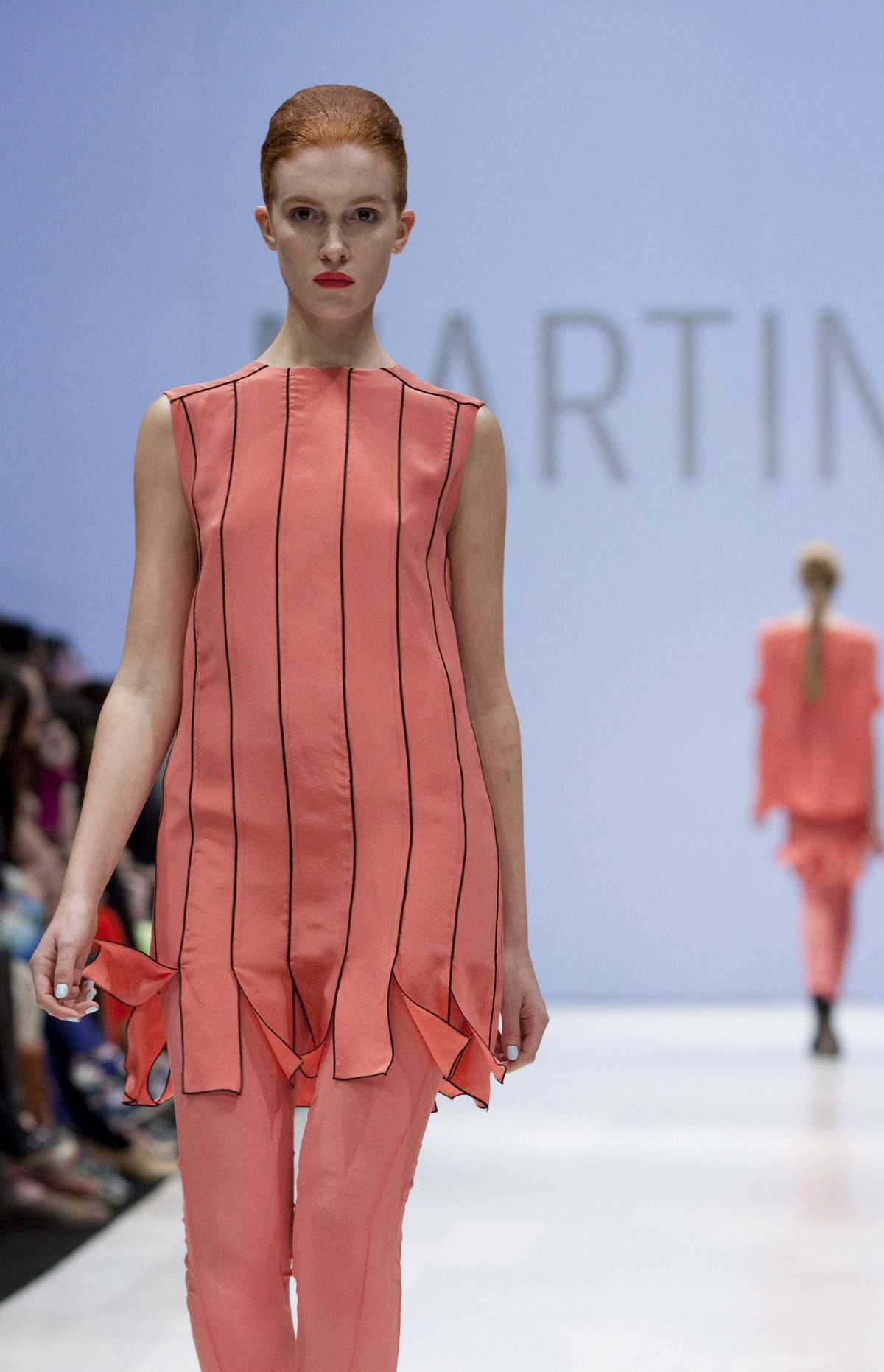 Unexpected shades of coral and lilac were a breath of fresh air among fall collections that had featured murky shades throughout the day, but the colour blocking that drove home the Mondrian inspiration felt overthought at times and took the focus off the stronger pieces.