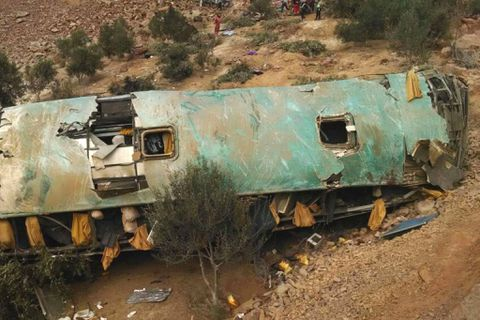Peru bus crash kills at least 35