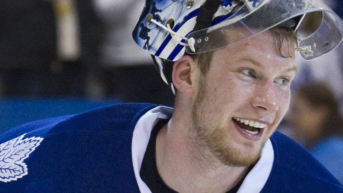 Toronto Maple Leafs goalie James Reimer. REUTERS/Fred Thornhill
