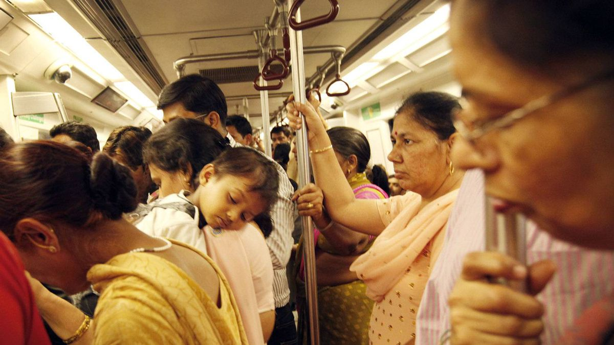 Passengers ride a Bombardier metro train in New Delhi on April 14, 2010. The women-only subway car offers a much-needed reprieve for weary commuters, reports the Globe's Stephanie Nolen.