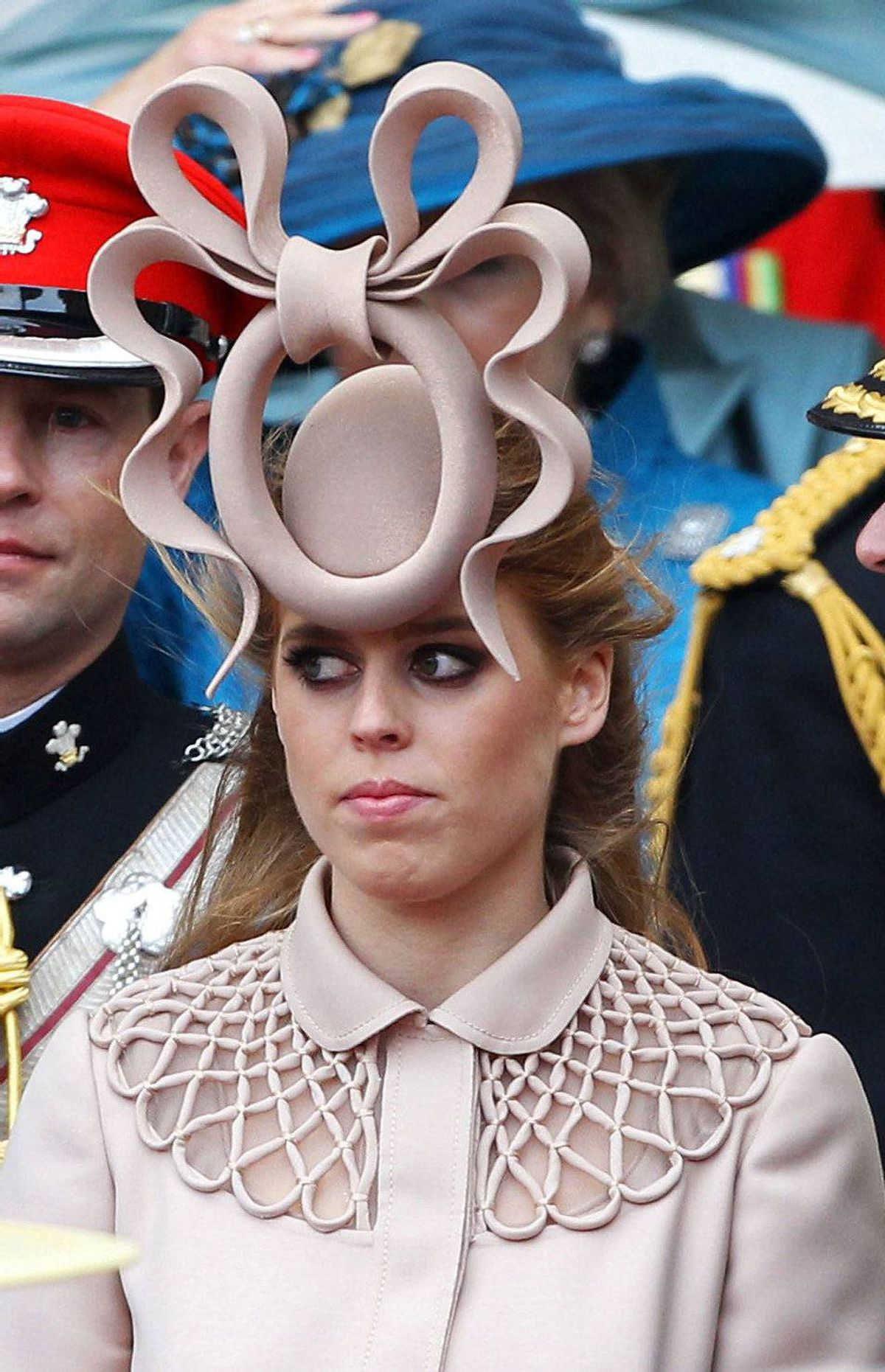 But none were as stunningly curious as Princess Beatrice's choice. Is it an octopus? A door knocker? An abstract rendition of female reproductive organs? The world will never know.