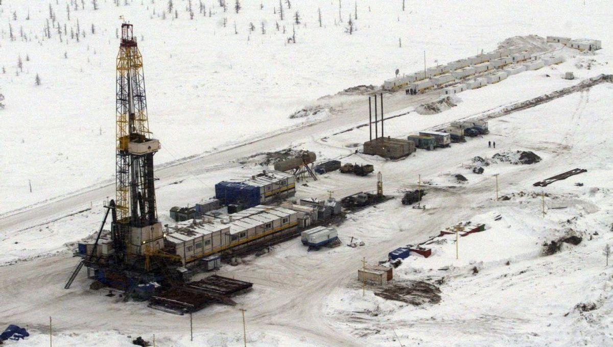 A Rosneft oil rig in eastern Siberia