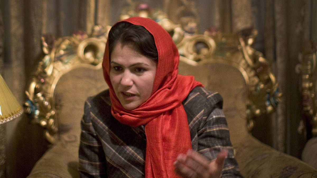 Afghan MP Fawzia Koofi talks in the guest room of her house in Kabul, Afghanistan, on Saturday, December 18, 2010.