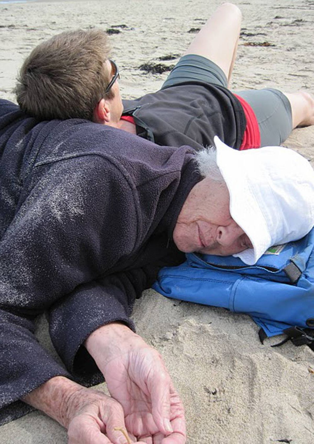his photo was taken on Ogunquit Beach in Maine in May 2010 on my mom's 85th birthday. It truly symbolizes the love and the physical closeness we shared for 50 years, for which I am so grateful.