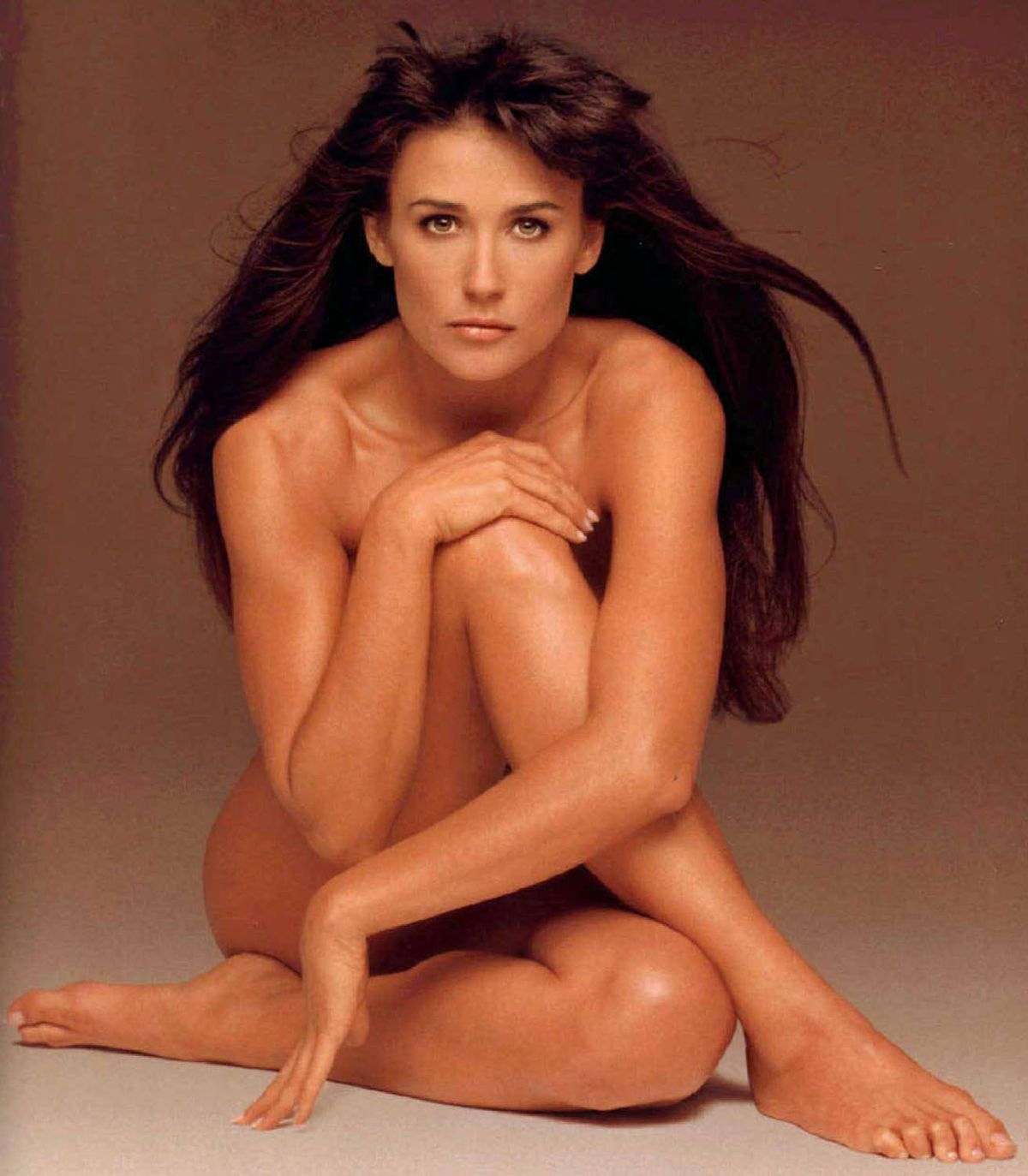Demi Moore in a publicity image for the film Striptease (1996).