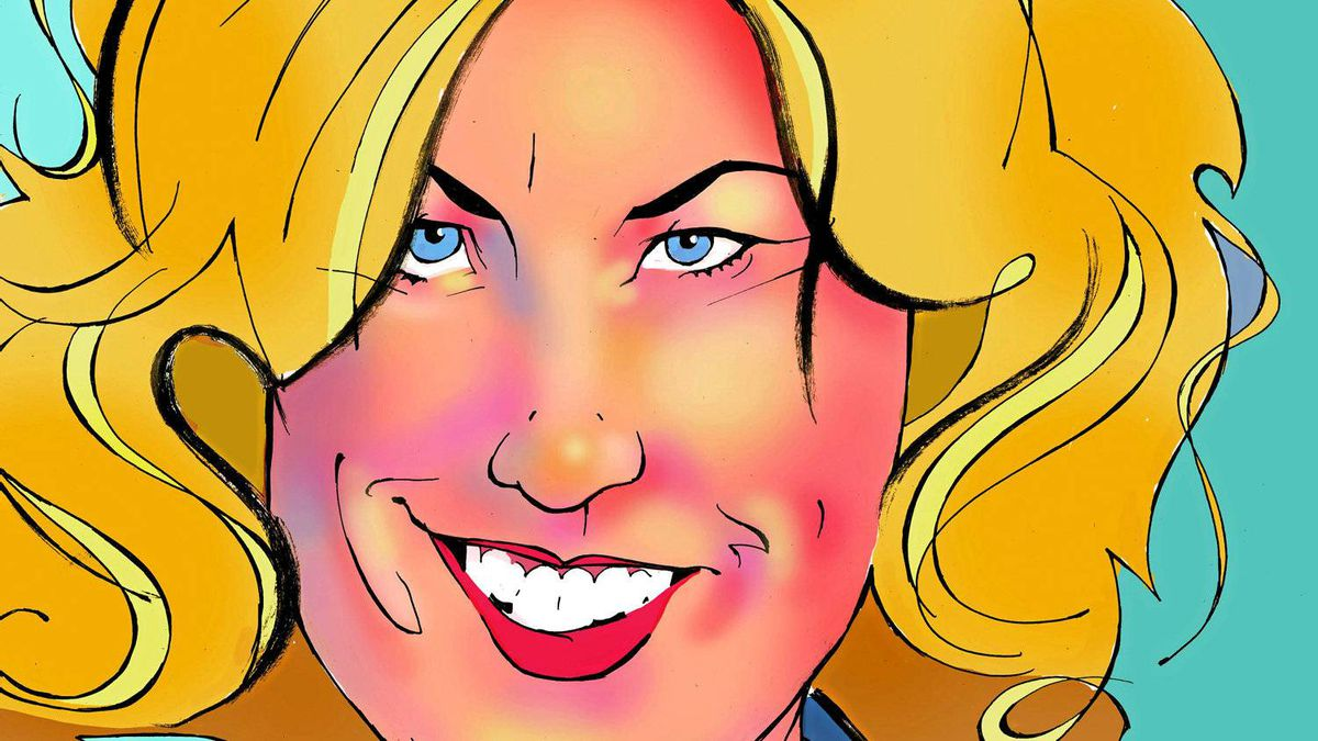Illustration of TransAlta chief executive officer Dawn Farrell.