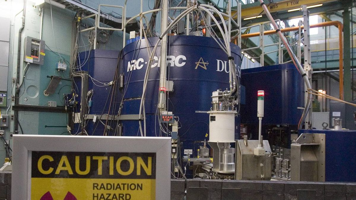 A nuclear reactor at AECL's facility in Chalk River, Ont.