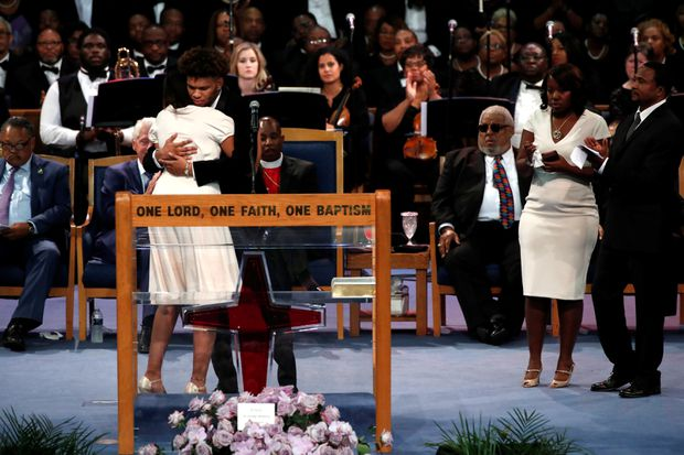 Aretha Franklin's star-studded memorial service in Detroit