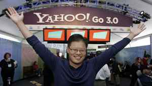 Former Yahoo CEO Jerry Yang in happier days at the Las Vegas Consumer Electronics Show in 2008. Mr. Yang announced Jan. 17, 2012, that he is leaving Yahoo. The surprise departure comes just two weeks after Yahoo Inc. hired former PayPal executive Scott Thomson as its CEO.