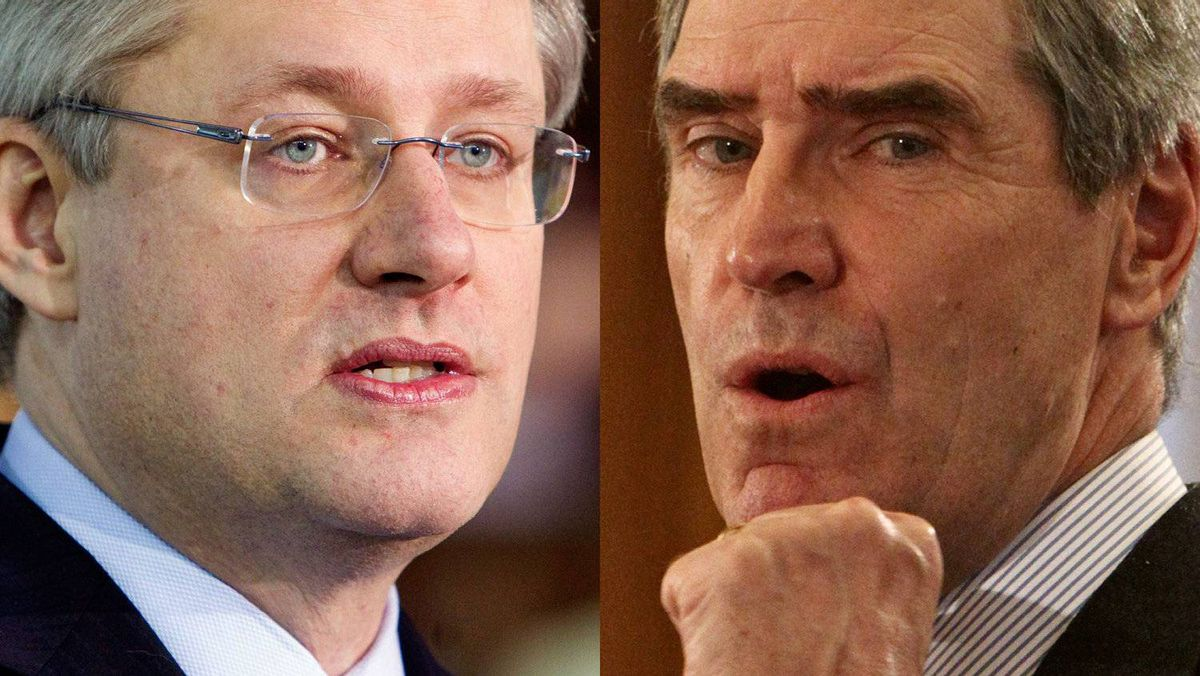 Prime Minister Stephen Harper and Liberal Leader Michael Ignatieff are shown in a January, 2011 photo combination.
