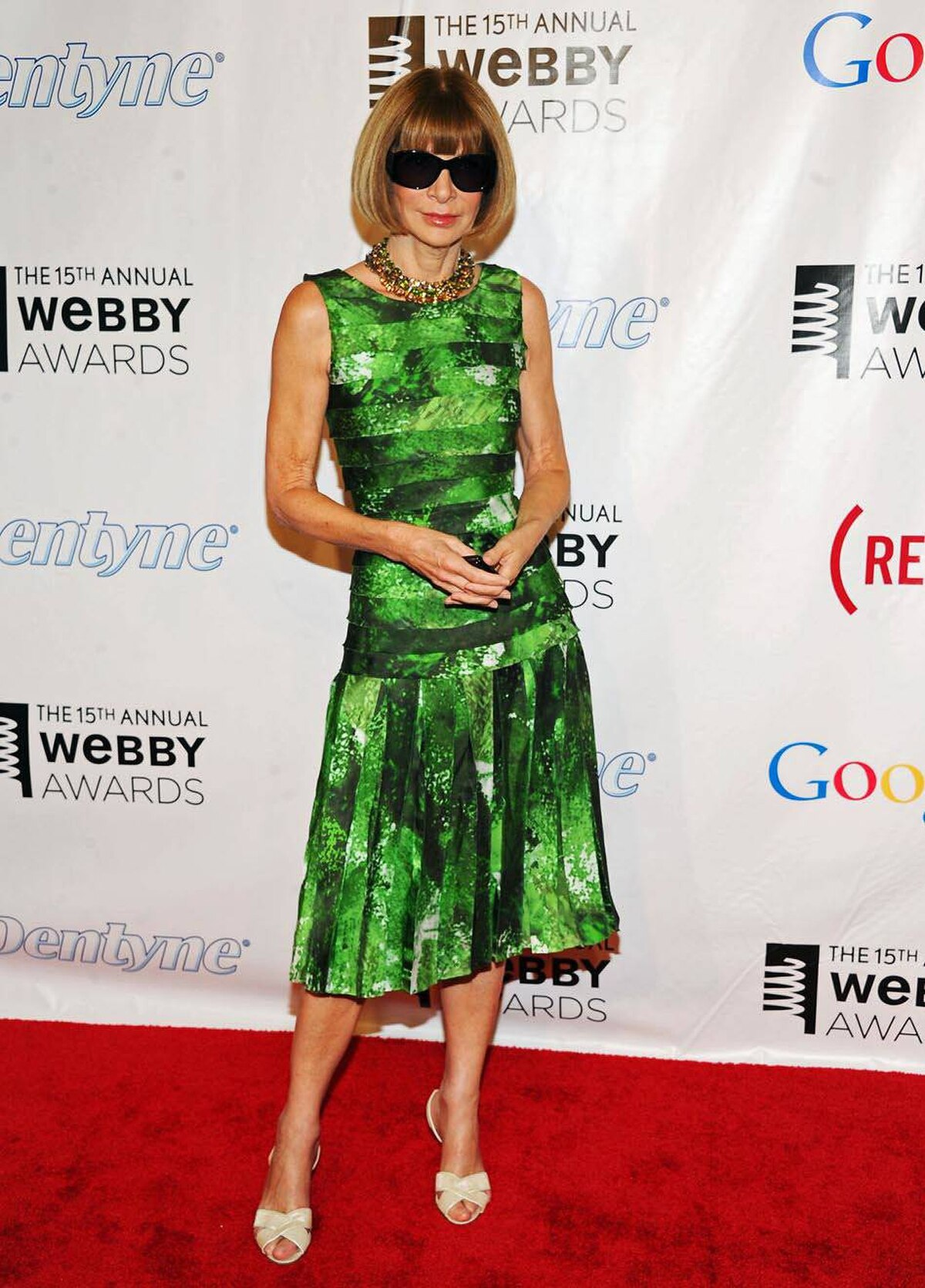 Vogue editor Anna Wintour attends the 15th Annual Webby Awards at Hammerstein Ballroom on June 13, 2011 in New York.