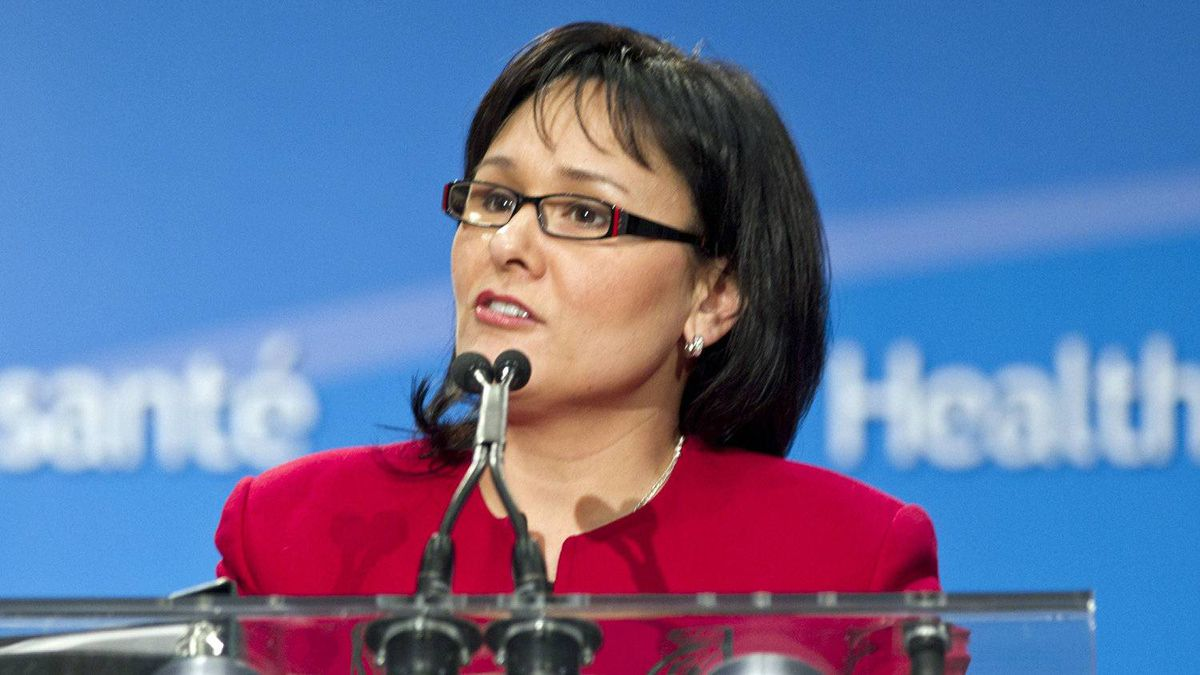 Health Minister Leonoa Aglukkaq speaks at a Toronto news conference on March 10, 2011.