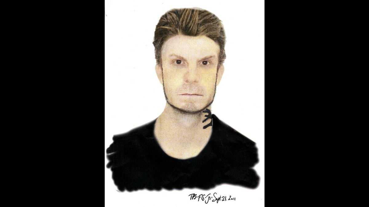 Sketch of a suspect in stalking, sexual assault incident in the Junction area of Toronto, released Sept. 23, 2011.