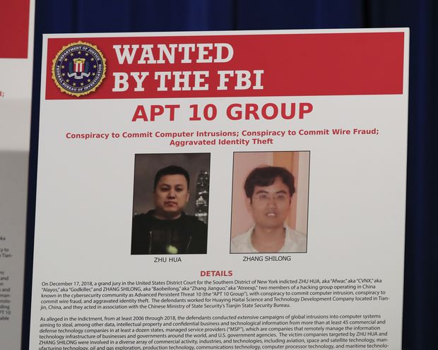 U.S. Indicts Two Chinese Hackers on Economic Espionage Charges