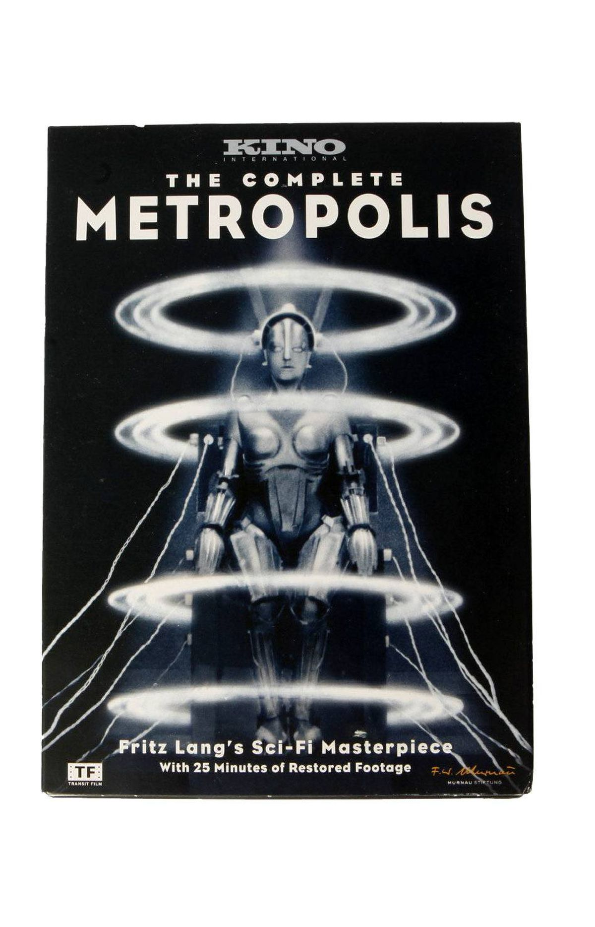 The Complete Metropolis on DVD For some viewers, the sound of Fritz Lang's Metropolis is the 1984 pop score assembled by Giorgio Moroder and performed by the likes of Loverboy and Pat Benatar. The latest reconstructed version of the 1927 silent film returns to the superb original score by Gottfried Huppertz, newly recorded in full by Frank Strobel and the Berlin Radio Symphony Orchestra. $20 at chapters.indigo.ca; and at amazon.ca
