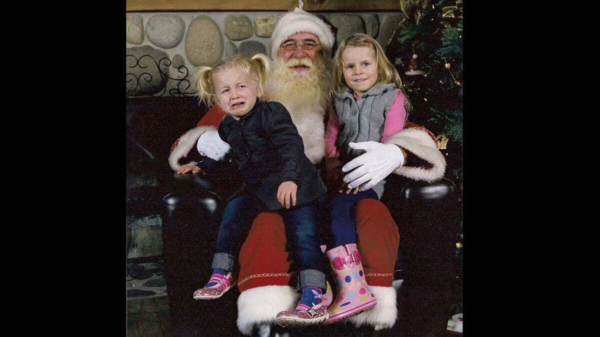 Paul Farina writes: These are our daughters, Makena (the happy one) and Isabella (not so happy).