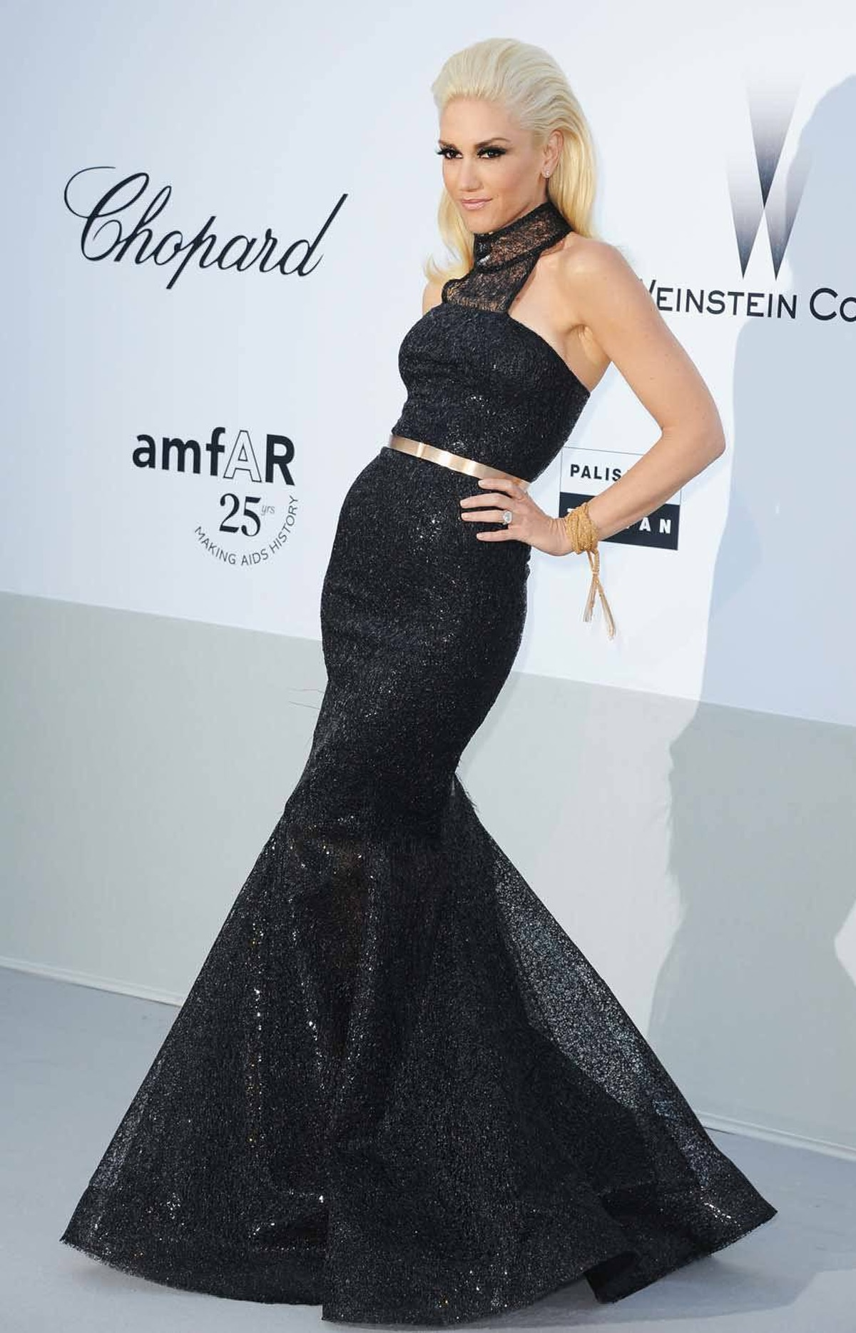 Gwen Stefani attends amfAR's Cinema Against AIDS Gala at the Cannes Film Festival on Thursday.