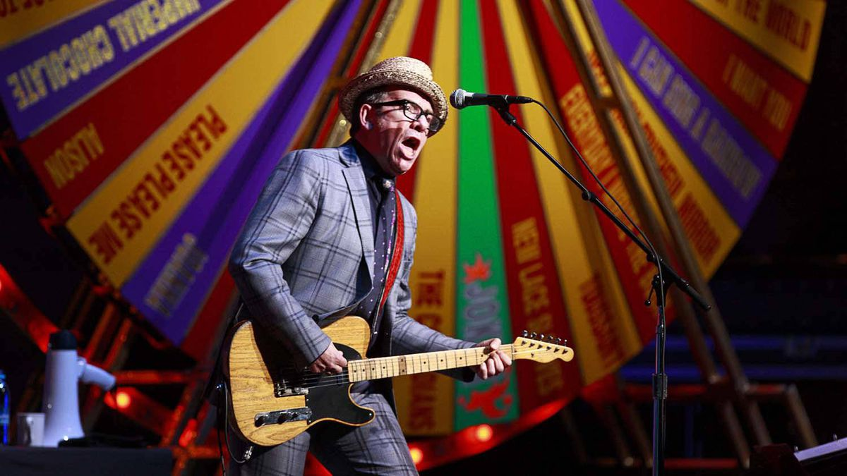 Elvis Costello performs at the Orpheum Theatre in Vancouver on April 10, 2012.