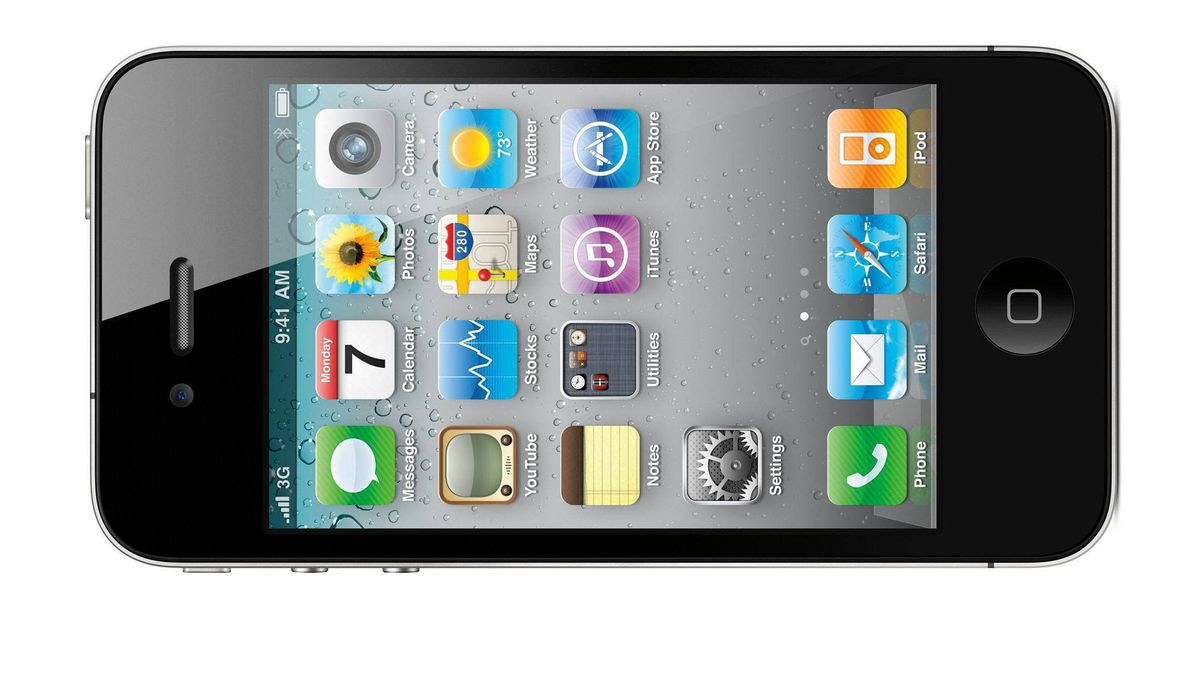 This product image provided by Apple Inc., shows the new Apple iPhone 4. (AP Photo/Apple Inc.) ** NO SALES **