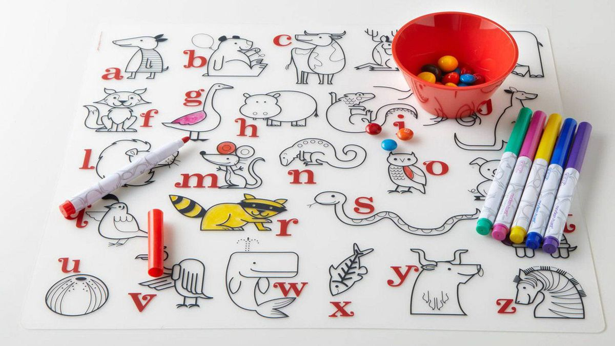 Art on the go From airplane seat to restaurant table, Modern-twist's Kidz Box lets your little ones doodle over and over again. The reusable portable art set includes six non-toxic dry erase markers and a rip-free illustrated placemat that can be wiped clean after each use. $28.99 (U.S.); allmodern.com