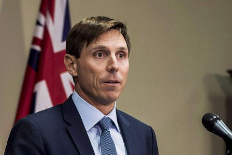 Beating the clock: Patrick Brown's running for his old job