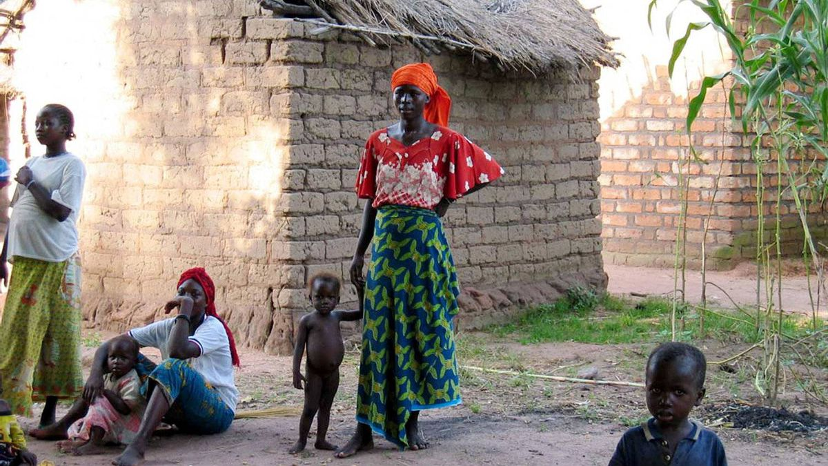 Women and children in the southern village of Bonia in Chad's oil-producing Doba basin, Oct. 8, 2003. Griffiths Energy is facing an internal investigation into its oil contracts in Chad, considered one of the 20 most corrupt nations in the world.