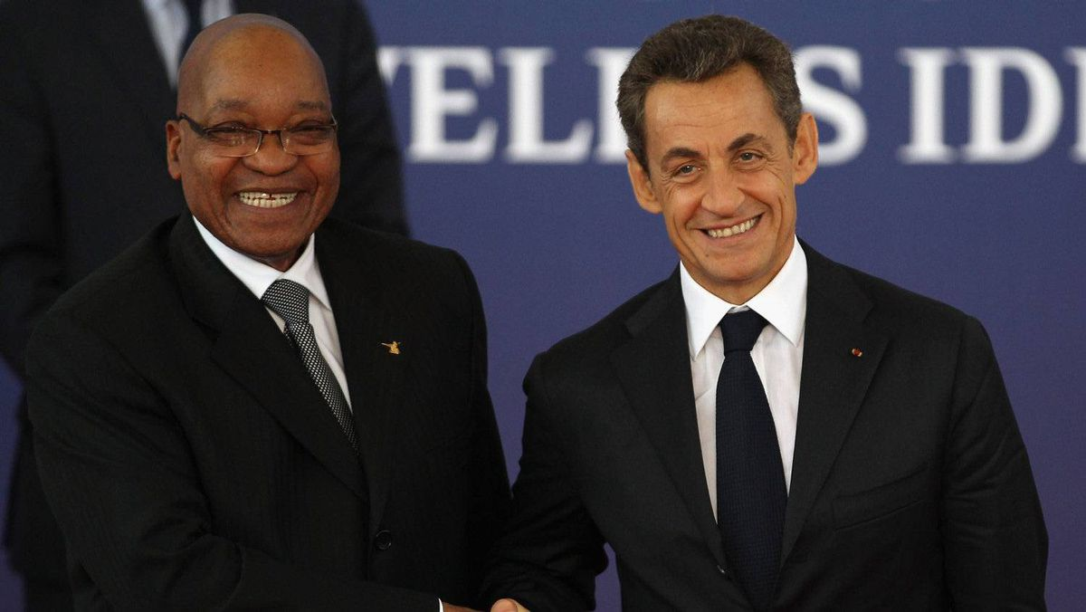 "South African President Jacob Zuma is welcomed to Cannes. ""The first thing is for Europe to get its act together so we have a clear picture of what Europe is proposing,"" Mac Maharaj, a spokesman for President Zuma, told The Associated Press. ""We are very interested in a solution and we believe the solution is overdue."""
