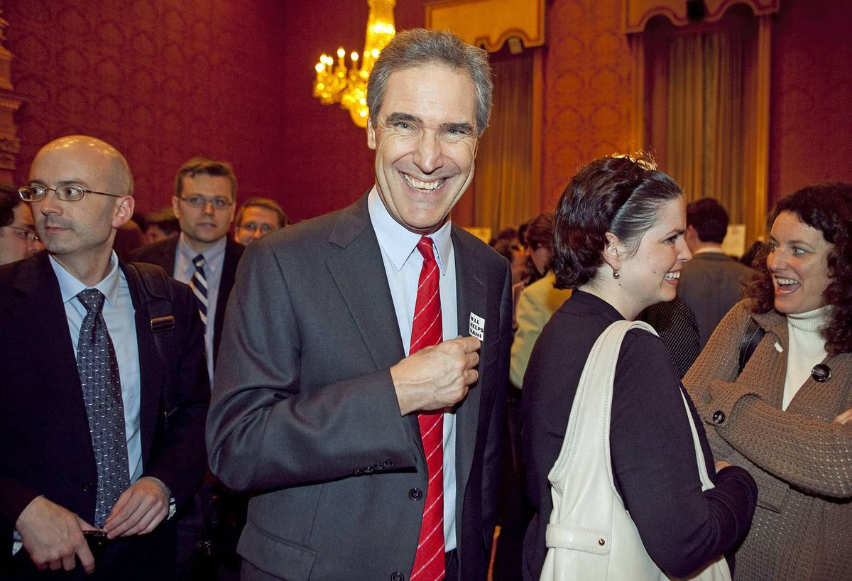 Liberal Leader Michael Ignatieff is all smiles