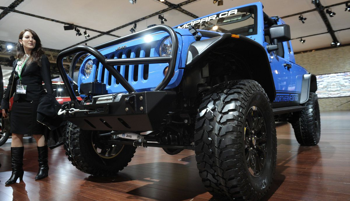 JK8 Northern Edition concept Jeep during the media preview of the Canadian International Auto Show in Toronto.
