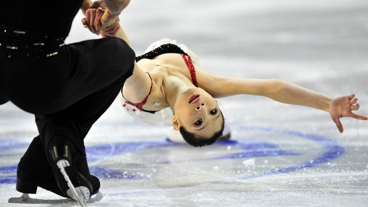 Zhang Dan and Zhang Hao, of China, perform their short program in the pairs competition at the ISU Grand Prix of Figure Skating Final Friday, December 9, 2011 in Quebec City. THE CANADIAN PRESS/Paul Chiasson