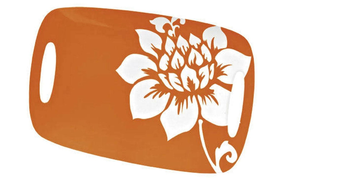 The colour of fun Trapped in the cabin on a rainy day? Serve up some margaritas on a festive gloom-busting tray. Melamine platter in orange Meadow pattern, $9.99 at Canadian Tire