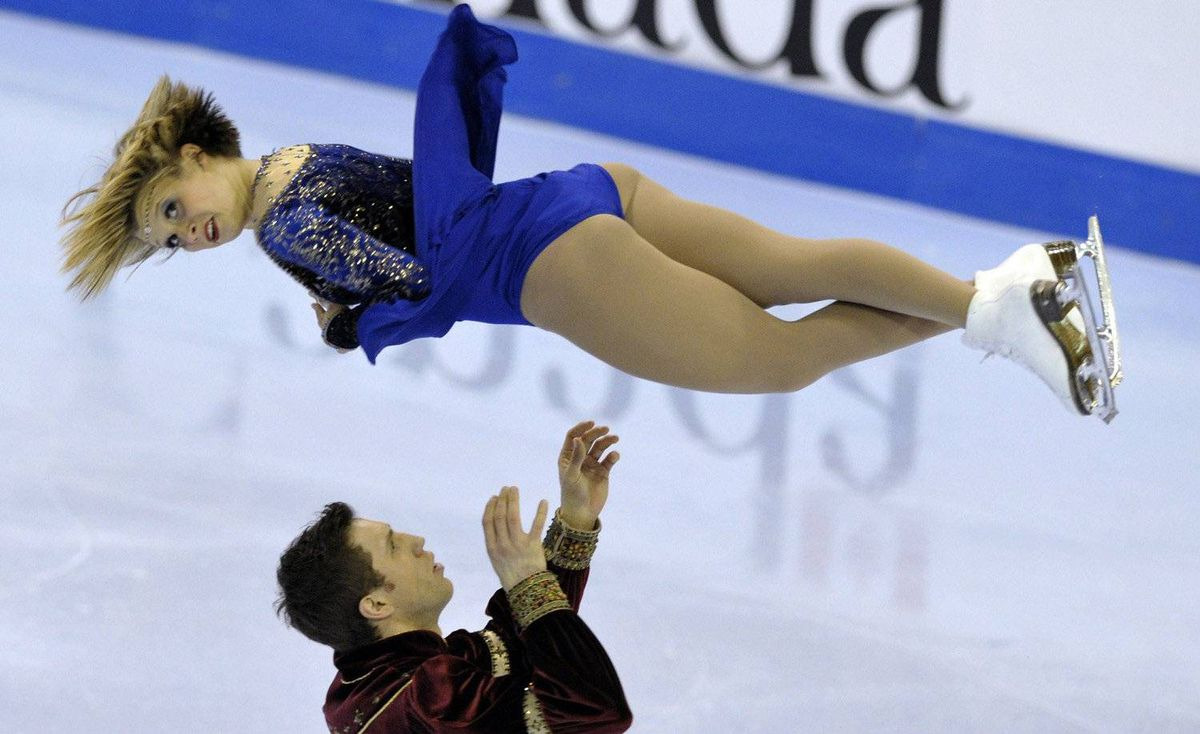 Kirsten Moore-Towers and Dylan Moscovitch skate during the Pair free program at the Canadian Figure Skating Championships in Moncton, New Brunswick, January 21, 2012.