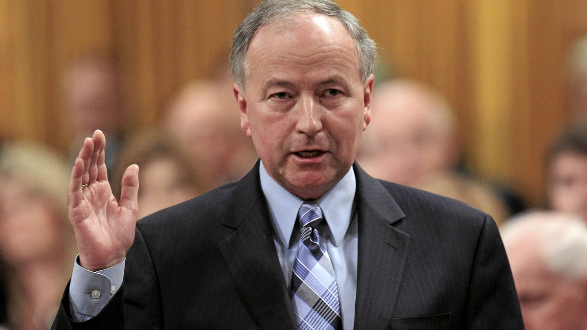 Canada's Justice Minister Rob Nicholson speaks during Question Period in the House of Commons on Parliament Hill in Ottawa June 7, 2011