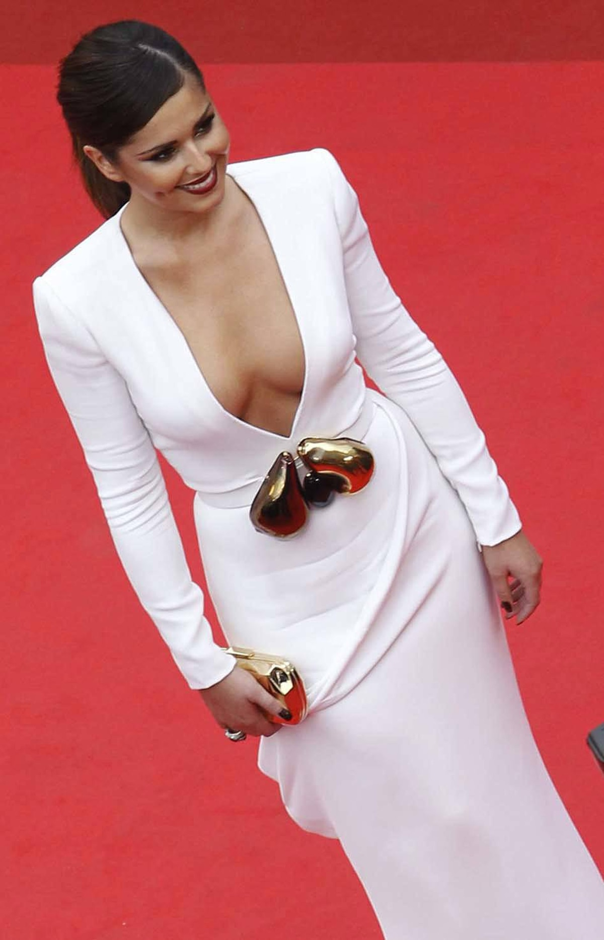 """British singer Cheryl Cole arrives for the screening of """"Habemus Papam"""" at the Cannes Film Festival on Friday."""