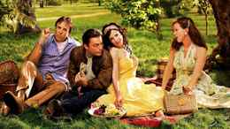 From left, Kevin Nealon, Justin Kirk, Mary-Louise Parker and Elizabeth Perkins in Season 3 of Weeds.