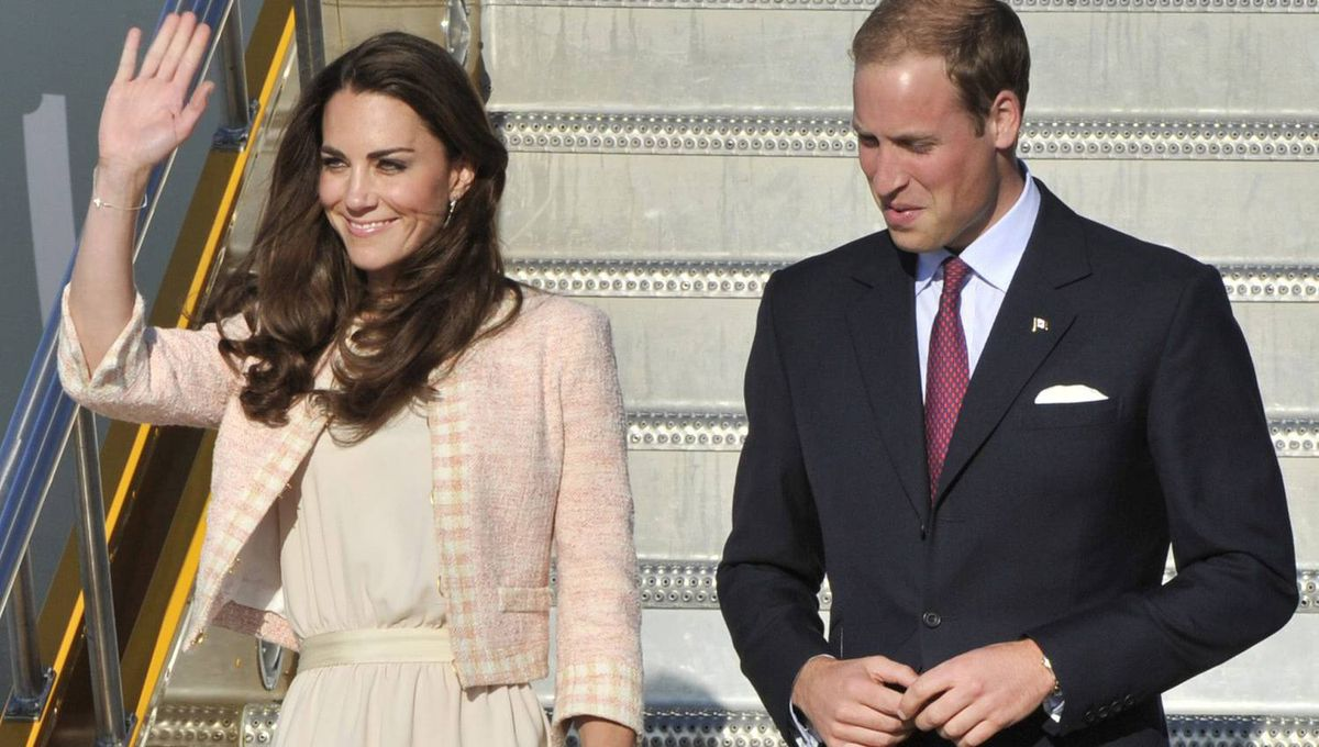 The Duke and Duchess of Cambridge arrive in Charlottetown, Sunday, July 3, 2011.