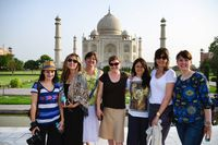 Canadian Entrepreneurs visit the Taj Mahal (from left to right): Andrea Lown – founder, SmartBrideBoutique.com; Sarah Prevette