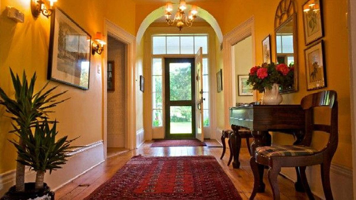The house is full of light and fine detail and it was designed with wide hallways and generous proportions.