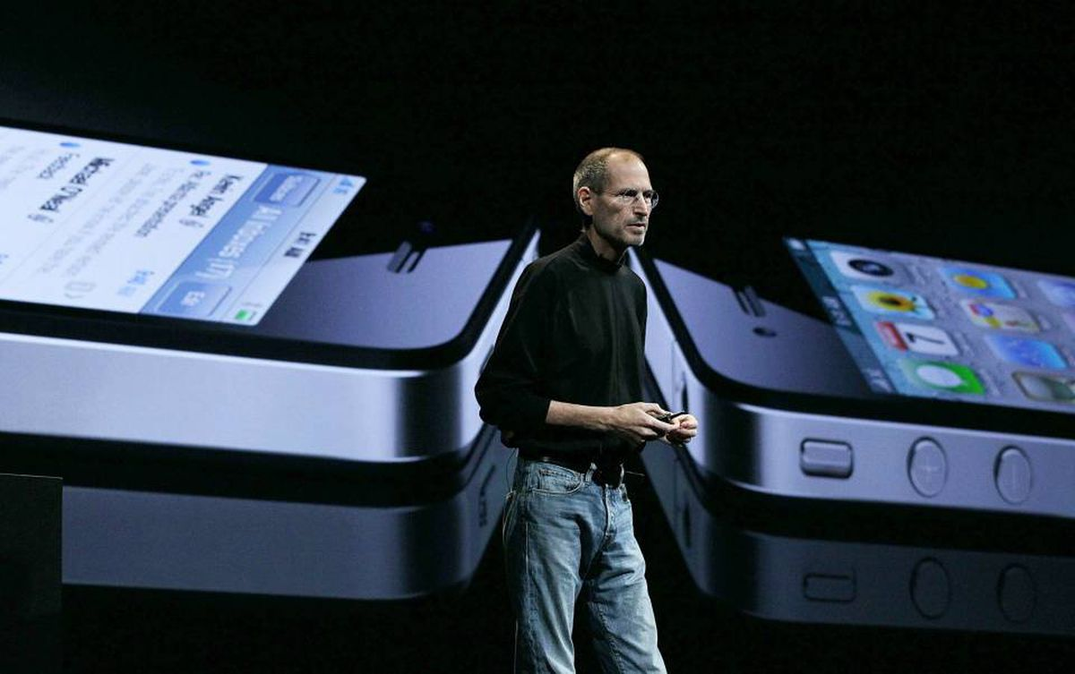 Apple CEO Steve Jobs introduces the iPhone 4 at the 2010 Apple World Wide Developers conference Monday in San Francisco.