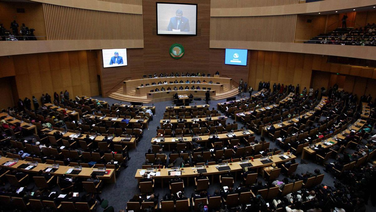 A general view shows delegates at the venue of the 18th African Union summit in Ethiopia's capital Addis Ababa Jan. 29, 2012.