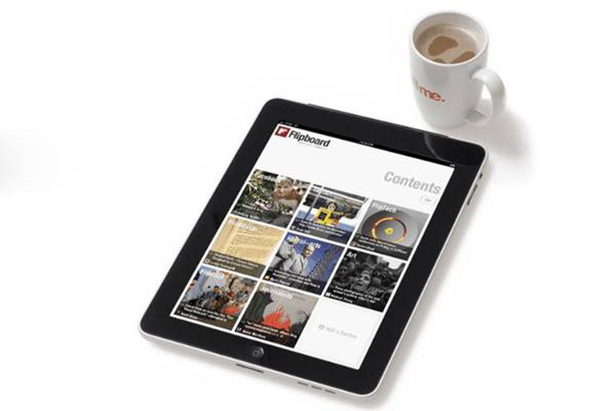 This product image provided by Flipboard.com, shows the Apple iPad displaying the Flipboard app.